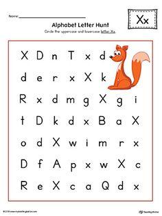 Alphabet Letter Hunt X Worksheet Color