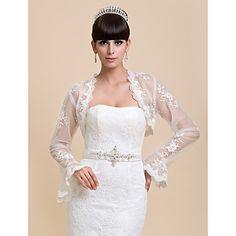 Wedding+/+Party/Evening+/+Casual+Lace+Coats/Jackets+Long+Sleeve+Wedding++Wraps+–+USD+$+19.99