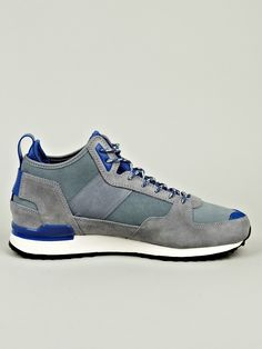 Adidas Originals x RANSOM Men's Military Trail Runner Sneaker in blue / grey at oki-ni