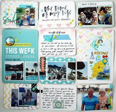 """Anma.no - Blog - """"The time of my life"""" page created by Dt Linda. Life Page, Project Life, Of My Life, Scrap, Abs, Pocket, Writing, Create, Projects"""