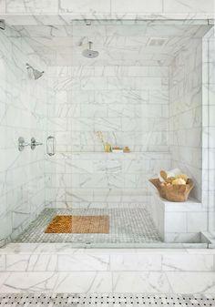 Gorgeous!! This is 12x24, but Carrara. I would use a lighter grout so the lines disappear as much as possible.