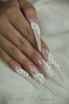 A beautiful set of Nails for a wedding...