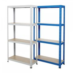 Ikea Pantry Shelves Garage Shelving Units, Steel Shelving, Ikea Pantry, Outdoor Buildings, Ikea Shelves, Chipboard, Storage Solutions, Bookcase