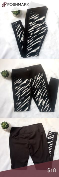 Sexy work out pants Super sexy work out stretch pants. Black with white and purple accent color. Super comfy and stretchy! Worn once. Size Small. 82% Polyester 18% Spandex Cato Pants Track Pants & Joggers