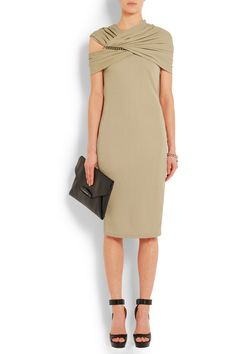 Givenchy | Chain-embellished dress in beige jersey | NET-A-PORTER.COM
