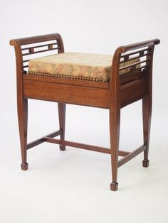 Antiques Antique Furniture Humor Antique Edwardian Mahogany Piano/dressing Table Stool