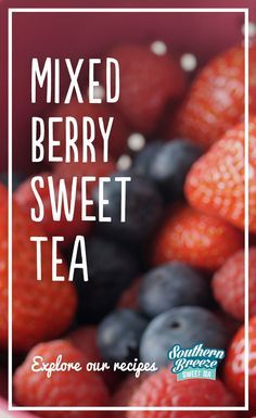 Mix things up this summer by adding berries to our Sweet Tea.    1) Pour boiling water into a half-gallon pitcher over 2 Southern Breeze tea bags. Then steep for 10 minutes and discard the bags.     2) In saucepan, bring 6 oz. unsweetened mixed berries and 4 cups cold water to a boil. Simmer uncovered for 10 minutes until pulp turns colorless then strain pulp.  3) Add extracted juice and 2 tbsp lime juice to tea. Refrigerate until cold.  4) Serve over ice and garnish with some whole fruit.