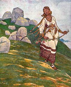 Mountain Woman by Nicholas Roerich