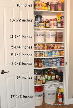 How To Organize A Small Pantry ~ When Fall arrives my inner clock reminds me to stock up on food storage because that is usually when the canned goods go on sale. By just adding a few extra shelves you gain almost 50% more cupboard space depending on how your cabinets are built