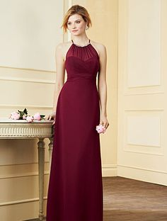 Alfred Angelo bridesmaids dress in Claret