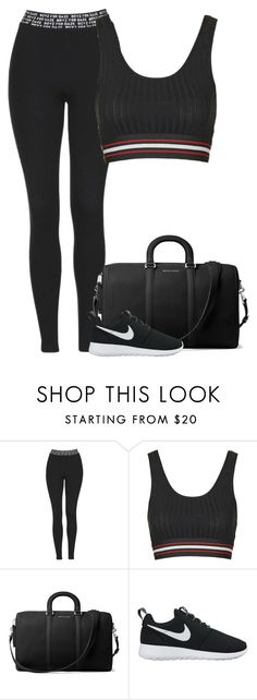 """""""Untitled #8702"""" by fanny483 ❤ liked on Polyvore featuring Topshop, MICHAEL Michael Kors and NIKE"""