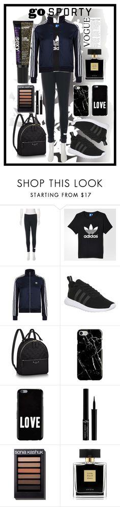 """go sporty"" by sim123sim ❤ liked on Polyvore featuring Élitis, adidas, adidas Originals, Recover, Givenchy, Giorgio Armani, Avon and adidasfashion"