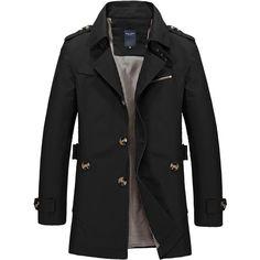 Tan Trench Coat Mens, Short Trench Coat, Classic Trench Coat, Trench Jacket, Men's Jacket, Men Coat, Mens Smart Coats, Formal Coat, Mens Winter Coat