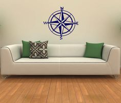 Nautical Compass Rose Housewares Wall Vinyl by SuperVinylDecal, $24.99