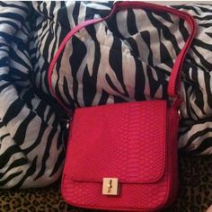Cross body bag Pink cross body bag..snake skin embossed Bags Crossbody Bags