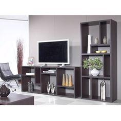 lexa vertical/horizontal bookcase | modern shelving | eurway modern furniture - white