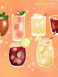 The Perfect Summer Drink, Based on Your Zodiac Sign Colorful Cocktails, Fruity Cocktails, Summer Cocktails, Fun Drinks, Whiskey Sour, Moscow Mule, Bloody Mary, Sangria, Caipirinha Recipe