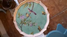 Handpainted table I done for a customer