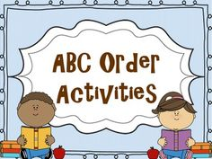 ABC Order Templates Pack! by Mrs Wenning's Classroom | Teachers Pay Teachers