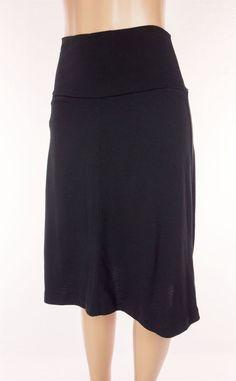 ICEBREAKER Villa Skirt Size M Medium Black Merino Wool Travel Knee Length Flared #Icebreaker #FullSkirt