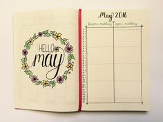It may be a tad early (excuse the pun ) but I have set up my monthly log so I am ready to go properly in May! #bulletjournal #leuchtturm1917 #berry #hellomay #futurelog #monthly #may2016 #planning #planner #plannercommunity #bujo #bujeaux #journal #journalling #cursive #wordwreath #cursive #fauxcallugraphy #calligraphy #colouring #dotgrid #bulletjournaljunkies #handlettering #maysetup