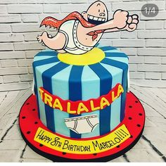 We just had to share this Captain Underpants cake. Brilliant work by @abbyscakesnmoore. See the best Edible Image Designs posted daily at http://topperoo.com/edible-image-designs/