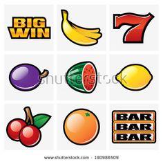 Gambling & Slot Machine Icons - Set 1