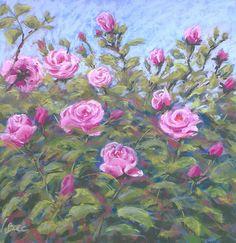 Roses in my garden. Soft pastels. http://poussieresdepastels.blogspot.com