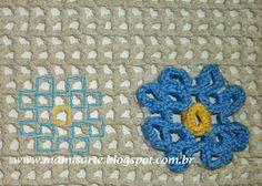 Crochet et Tricot da Mamis Wiggly Crochet Patterns, Crochet Stitches Free, Crochet Squares, Crochet Mat, Crochet Doilies, Rugs On Carpet, Blanket, Knitting, Crafts