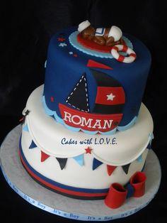 Nautical Theme Baby Shower Cake Boy