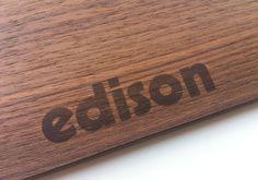 modularplus / edison speisekarte Bamboo Cutting Board, Print Design, Food Menu, Cards