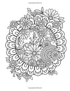Floral Mandalas Bonus Full Digital Copy Of Interior Inside Enjoyable Coloring Book