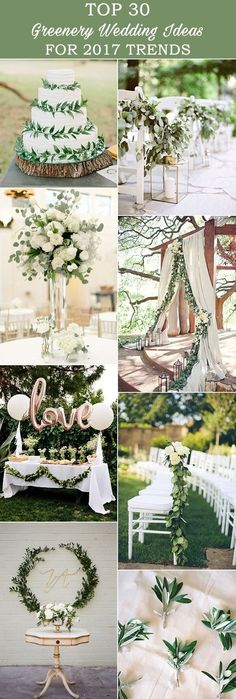 2017 weddings are seeing all things GREENERY, and we love it! Step away pretty pink florals...