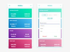 Wallets App UI Concept