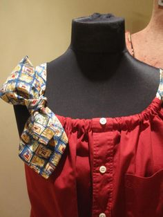 Items similar to Crimson Red Boyfriend Tank Top Blouse with Two Changeable Necktie Shoulder Straps - made from upcycled menswear on Etsy