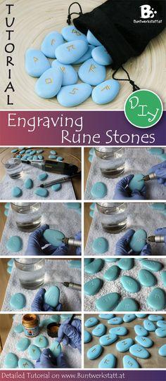 DIY tutorial on #engraving stones or #runestones // Anleitung zum Steine Gravieren, oder Runen