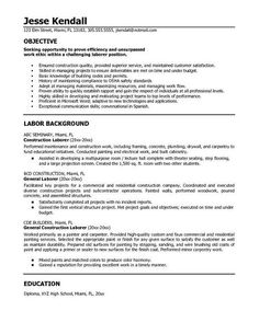 resume objectives for general job