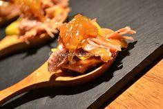 Bouchées de Confit de Canard Mangue & Confiture d'Oignons - L'Eau à la Bouche
