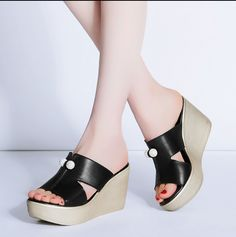 c79da8d117 Cheap flip flops, Buy Quality sandals flip flops directly from China wedge  sandals Suppliers: Catching 2017 Summer Shoes Women Slippers High Thick  Heel 2017 ...