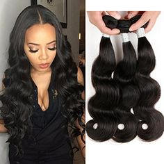 Yolami Brazilian Body Wave 3 Bundles 100% Unprocessed Human Hair Bundles Brazilian Virgin Hair Extensions Natural Color 16 18 20 Inch -- For more information, visit image link. (This is an affiliate link) #PersonalCare
