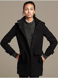 Black Wool Duffle Coat