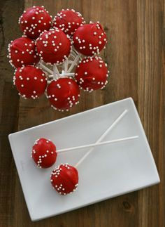 Cake pops are a delicious treat. Here I show you exactly how to make my red velvet cake pop recipe, without having to buy any fancy gadgets. Red Velvet Cake Pops, Red Cake, Cake Mixture, Candy Melts, Bake Sale, Savoury Cake, Clean Eating Snacks, Yummy Treats, Sweet Treats