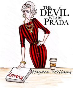 haydenwilliamsillustrations:  'The Devil Wears Prada' by Hayden Williams