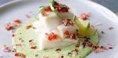 Cod with basil sauce Asian Fish Recipes, Tilapia Fish Recipes, Recipes With Fish Sauce, Whole30 Fish Recipes, White Fish Recipes, Easy Fish Recipes, Pollock Fish Recipes, Mediterranean Fish Recipe, Shellfish Recipes