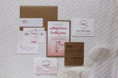 watercolor and lace inspired wedding invitations