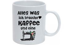 Tasse+*Kaffee+und+Nähmaschine*+von+MilaLu+auf+DaWanda.com