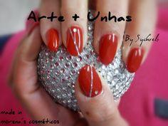 #unhas #nails #artnail #unhas decoradas #gel _ Morena's Cosméticos: Vermelho