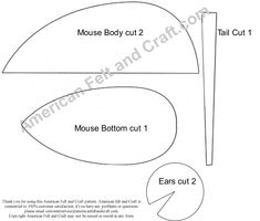 Free Felt Craft Patterns | Mouse Template | American Felt and Craft- The Blog