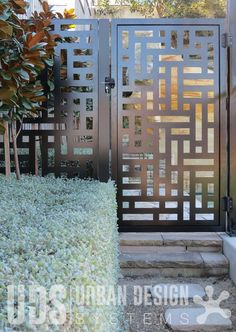 Laser cut gate and side panel - Oriental #1 (painted aluminium)