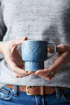 Pretty mug for that must have cup of coffee